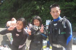 130805伊豆 富戸体験ダイビング1