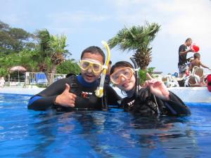 130815伊豆 海洋公園ダイビングライセンス講習1