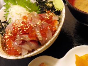20140605伊豆 真海 アジ丼
