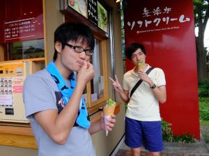 20140728伊豆 ぐり茶ソフト