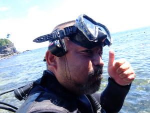 20140821伊豆 海洋公園水中トランシーバー