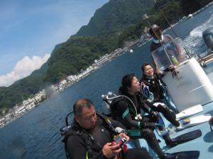 140906田子 ボートダイビング