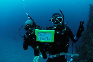 20141002伊豆 ダイビング 伊豆海洋公園記念ダイブ
