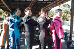 20150214伊豆 ダイビング 海洋公園 ドライスーツ