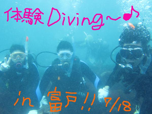 20150718伊豆 富戸 ダイビング ヨコバマ 体験ダイビング