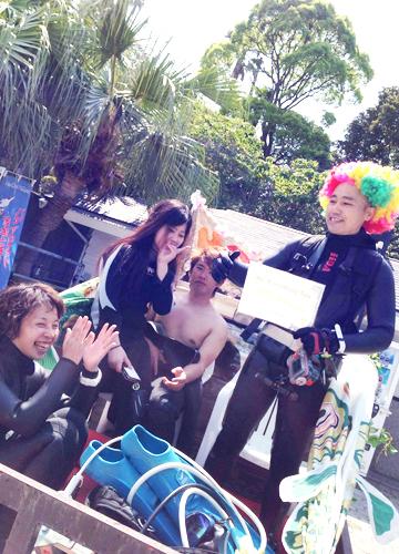 20160501伊豆 ダイビング伊豆海洋公園記念ダイブ (2)