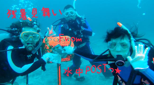 20160818伊豆 ダイビング 伊豆海洋公園 水中POST