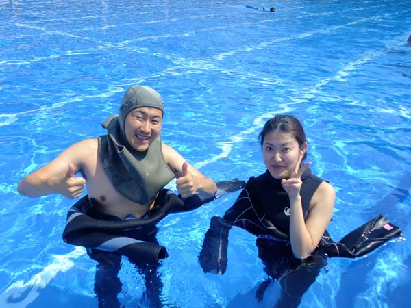 20170708伊豆 ダイビング 伊豆海洋公園 ライセンス取得講習