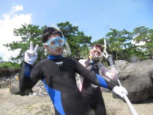 130818伊豆 海洋公園体験ダイビング シュノーケリング