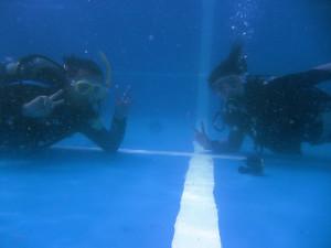130815伊豆 海洋公園ダイビングライセンス講習2