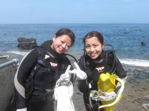 20140720伊豆 海洋公園ダイビング ライセンス